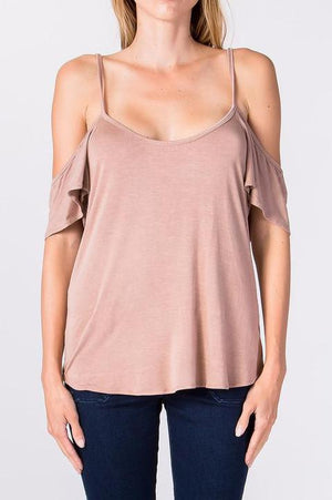Pink Cold Shoulder Blouse