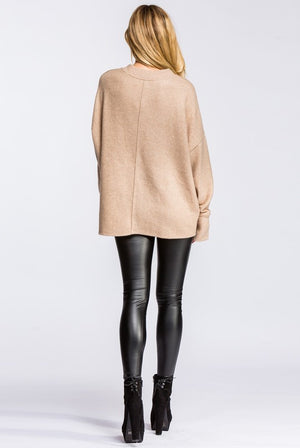 Taupe Loose Fit Long Sleeve Top