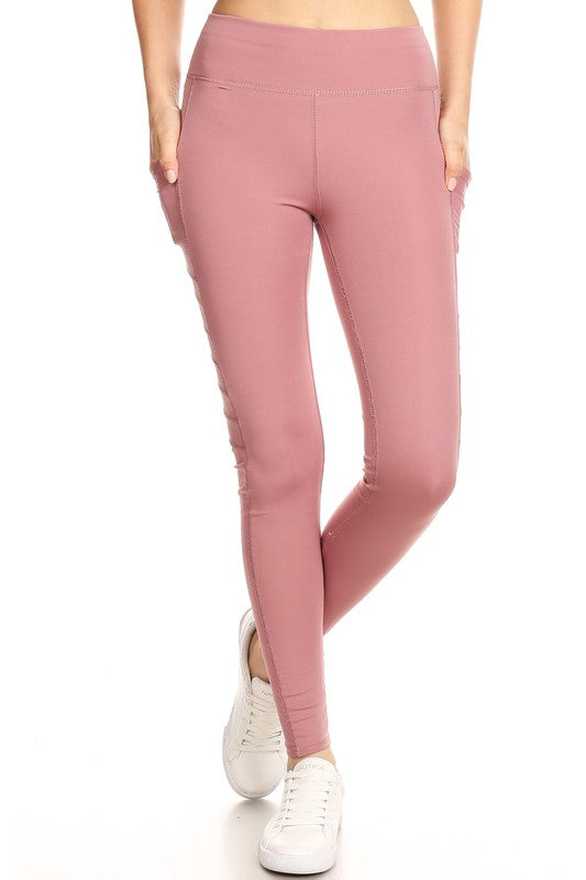 Mauve Pocket Fashion Pants