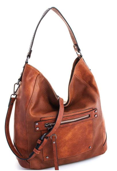 Tan Luxury Designer Inspired Hobo