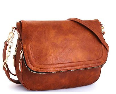 Tan Expandable Chic Cross Body Bag