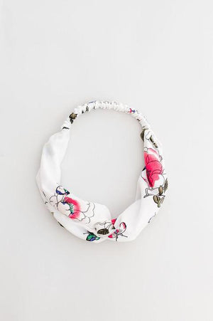 Rose Floral Twist Front Headband