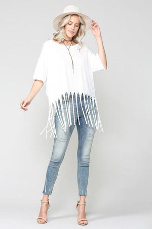Ivory Oversize Top