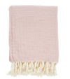 ROSE LINEN TASSEL THROW