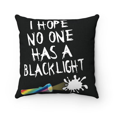 Blacklight Spooge Pillow