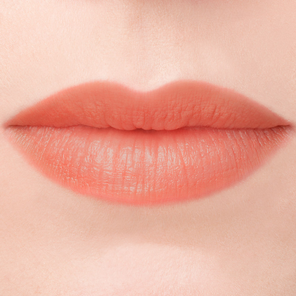 Bittersweet natural peach lipstick cruelty free makeup swatch