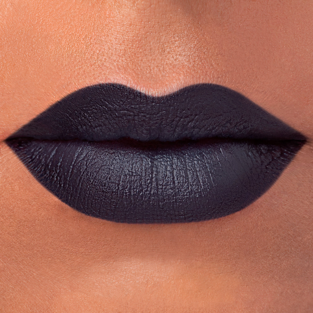 Rituel de Fille Shadow Self natural blue-black lipstick swatch