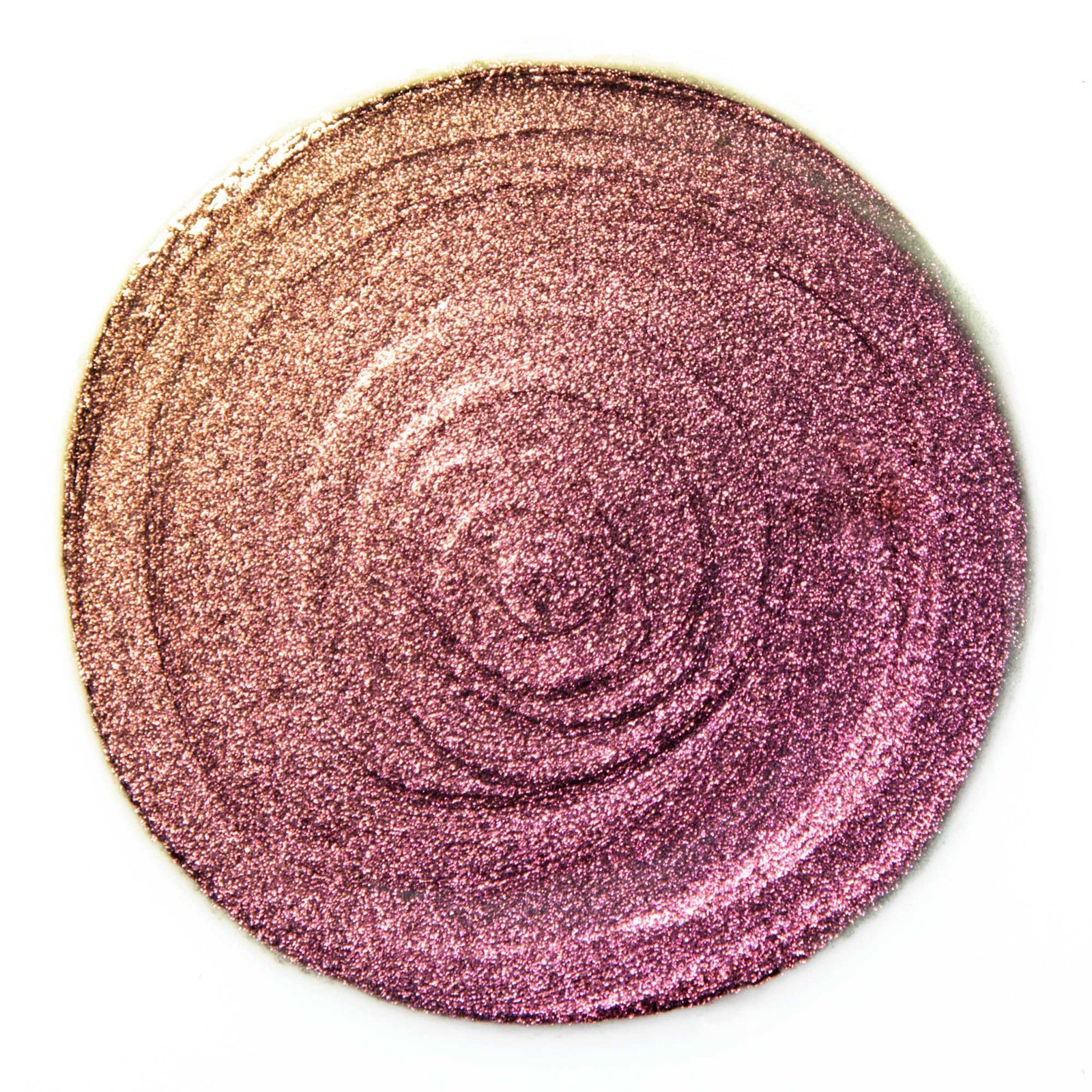 Andromeda Celestial Sphere Eye Soot iridescent natural glitter cream eyeshadow swatch