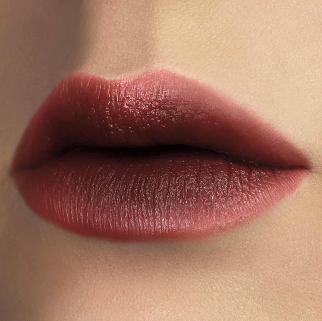 Carnal Forbidden Lipstick cruelty free - rose natural lipstick gradient lip