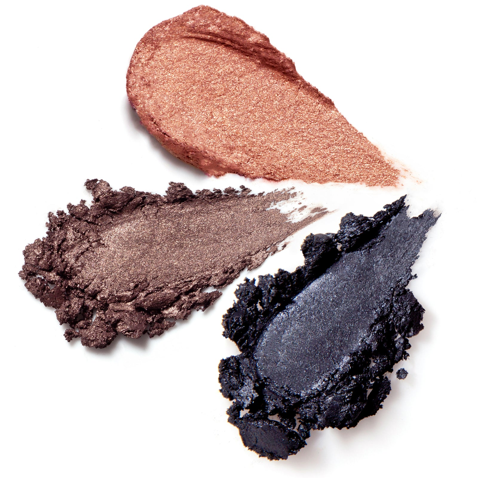 Rituel de Fille Ash and Ember Eye Soot in Divinus, Half Light and Obsidian swatches for the perfect smoky eye