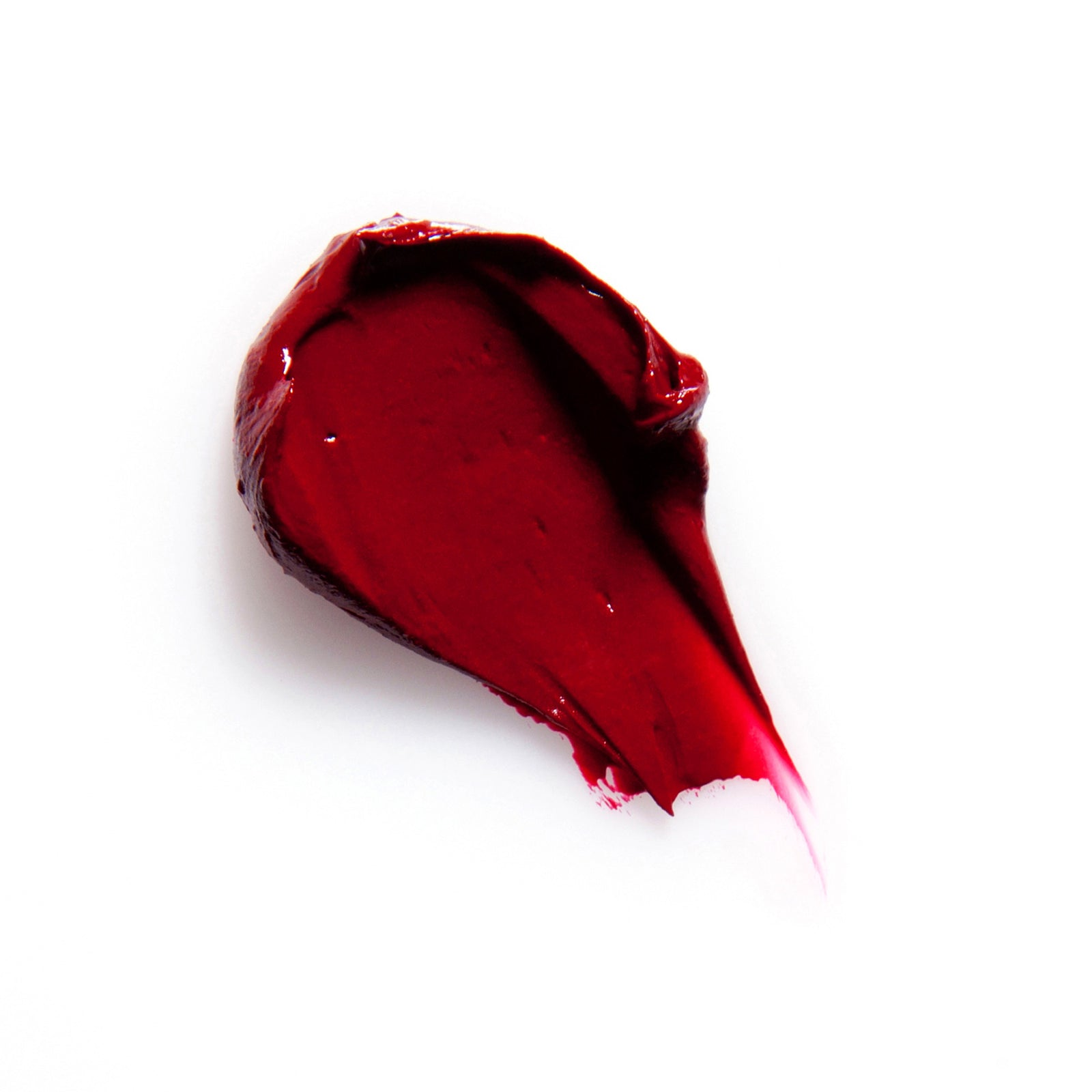 Written in Blood red natural lipstick swatch