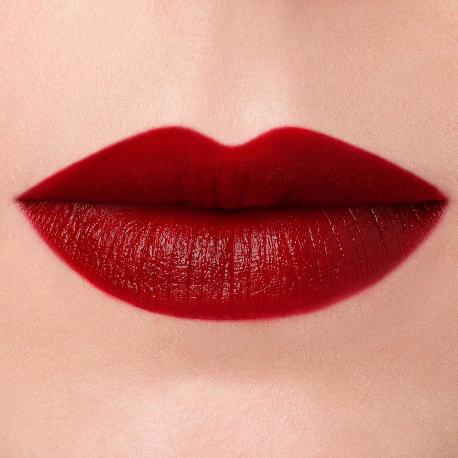 blood red lipstick