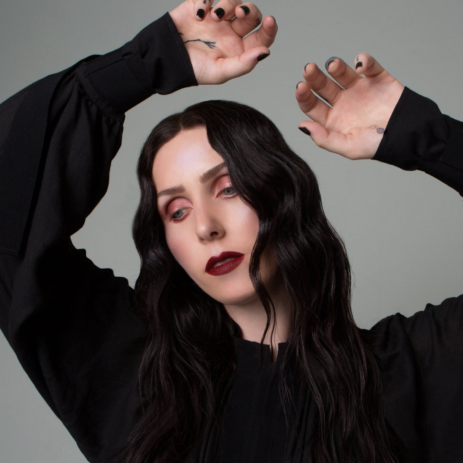 Chelsea Wolfe makeup Swarm natural red lipstick cruelty free