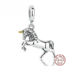 GIFT of The Winner Noble Elegant 100% 925 Sterling Silver Free Spirit Horse Animal Charm Pendant Fit  Bracelet PAS020 - Yogi4you