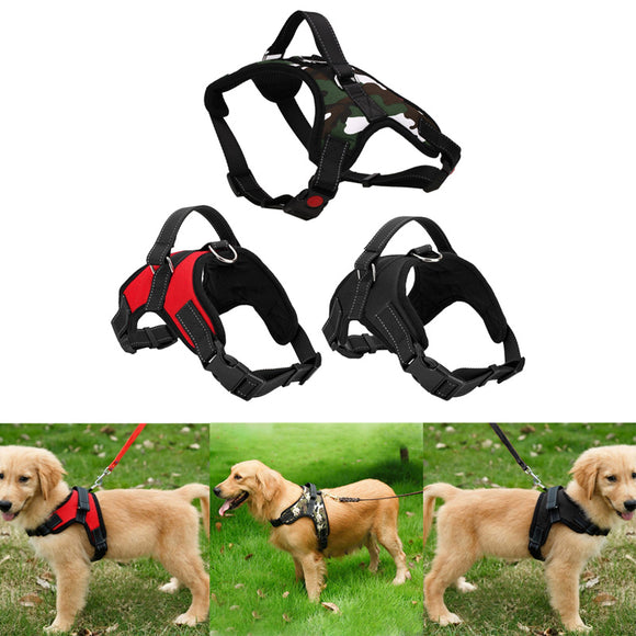 Adjustable 3 Colors Pet Puppy Large Dog Harness for Small Medium Large Dog Animals Pet Walk Out Hand Strap Dog Supplies - Yogi4you