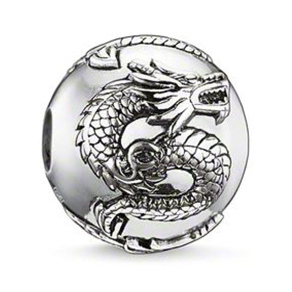 New Arrival - Hot sell! Dragon Pattern Beads Charms for Men DIY Silver Color Beads fit Pandora Necklace Bracelet Chain  TZ029