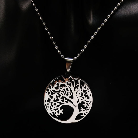 2017 Stainless Steel Tree of Life Necklaces Tree Bohemian Necklace & pendants Jewellery For Women or Men Gift collane donna N309 - Yogi4you