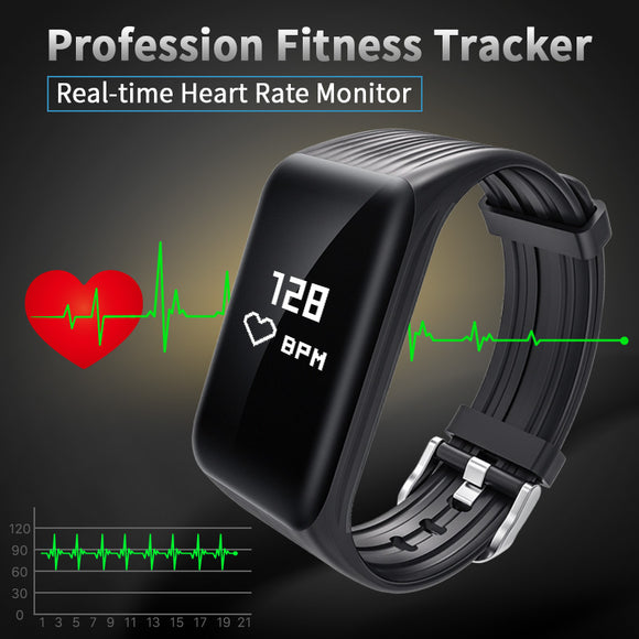 New Fitness Tracker K1 Smart Bracelet Real-time Heart Rate Monitor down to sec
