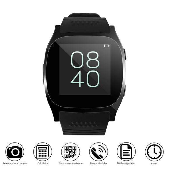 T8 Sport Bluetooth Smart Watch Support SIM TF card With Camera Call For Android