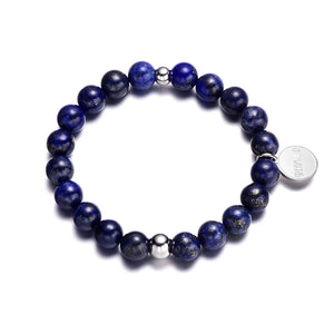 Blue Lapis Lazuli Natural Stone Bracelet, A Powerful Crystal For Mind - Daanias