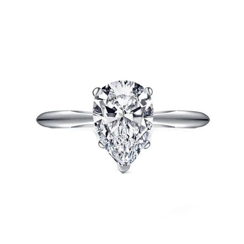 Luxury Solitaire Sona Diamond Ring - Women