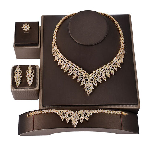 Dazzling And Glittery Jewelry Set For Women With Cubic Zircon