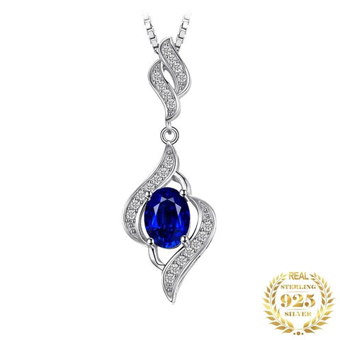 Immaculate Gemstone Sapphire Sterling Silver Pendant Without Chain