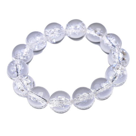 Crystal White Natural Himalayan Bead Bracelet