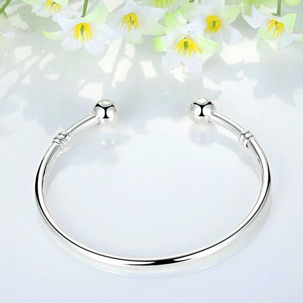 Silver Plated Charm Bracelet Bangle - Daanias