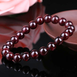 Natural Garnet Stone Red Wine Color Bracelet - Daanias