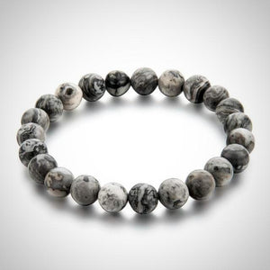 Smoked Grey Natural Stone Bracelet - Daanias