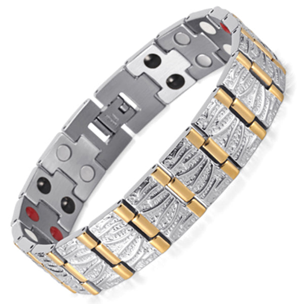 Germanium Steel Bio Magnetic Stainless Steel Bracelet - Daanias