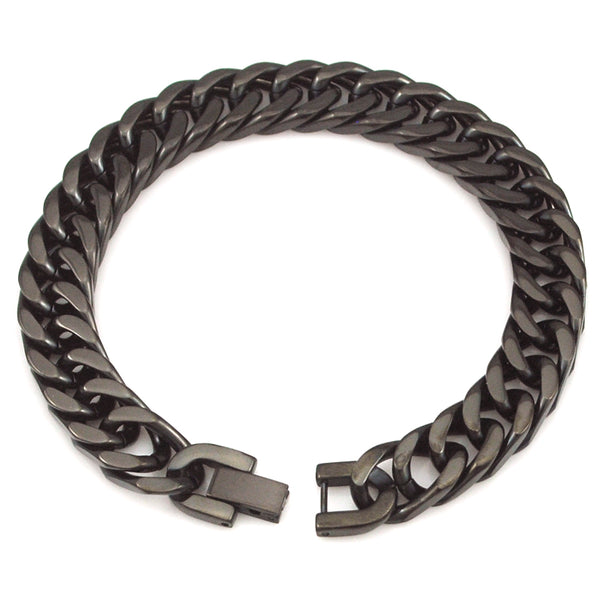 Manly Silver, Gold, And Black Color Stainless Steel Bracelets-Men - Daanias
