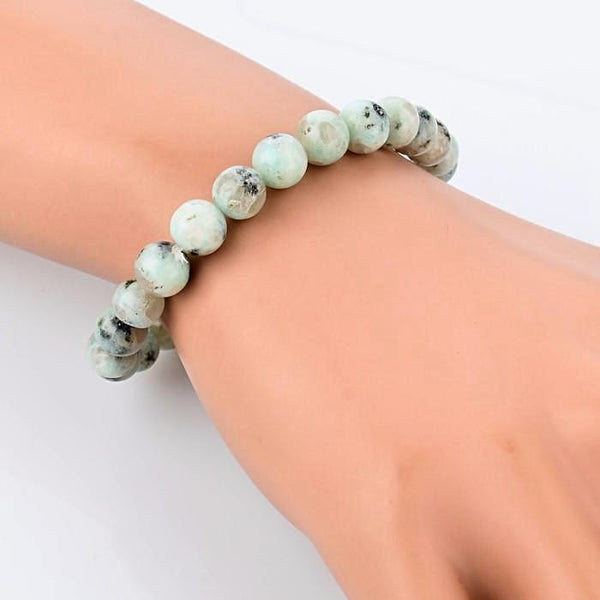 White & Black Color Natural Stone Bracelet - Daanias