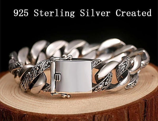 Genuine Thai Sterling Silver Men's Bracelets Handmade - Daanias