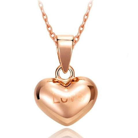 Charming Hearts LOVE 18k Pure Gold Pendant-Daanias.com