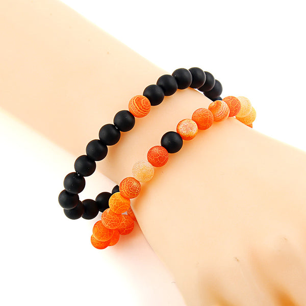 Natural Onyx Stone Beads Bracelet Multi-Color - Daanias
