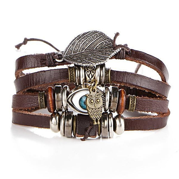 Turkish Eye Leather Bracelets - Daanias