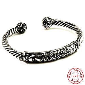 Twist Shape Bangle Genuine Thai Silver - Daanias.com