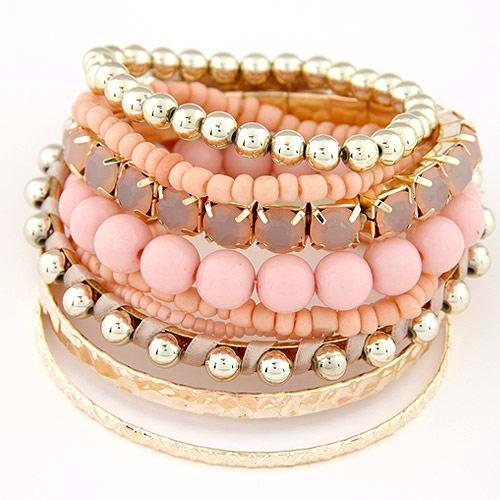 Bohemian Candy Color Multilayer Beads Bracelets - Daanias
