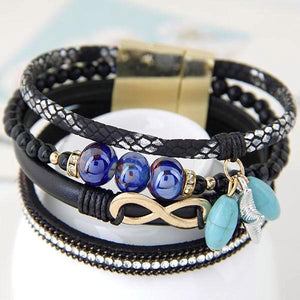 Bohemian Starfish And Infinity Charm Ceramic Beads Bracelets - Daanias