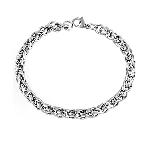 Manly Silver Tone Link Chain Stainless Steel Bracelets - Men - Daanias