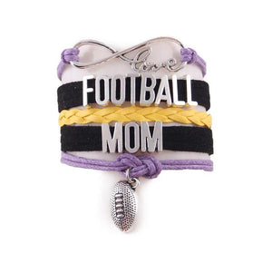 Love Football MOM Leather Bracelet - Daanias.com