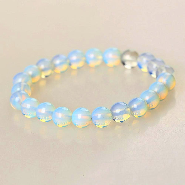 Moonstone Natural Stone Beaded Bracelet - Daanias