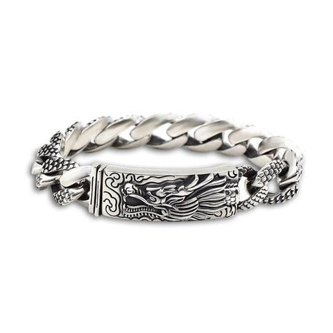 Dragon Head Thai Silver Handcrafted Bracelet-Daanias.com