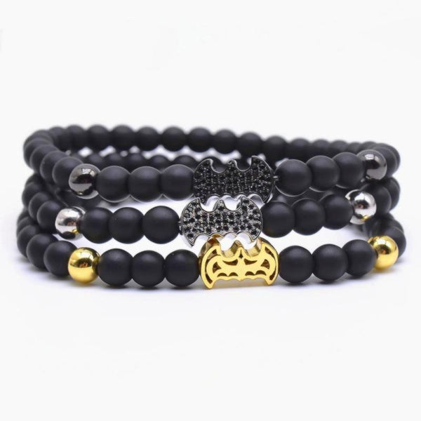 Natural Stone Beads Imperial Crown, Batman Charm Bracelets - Daanias