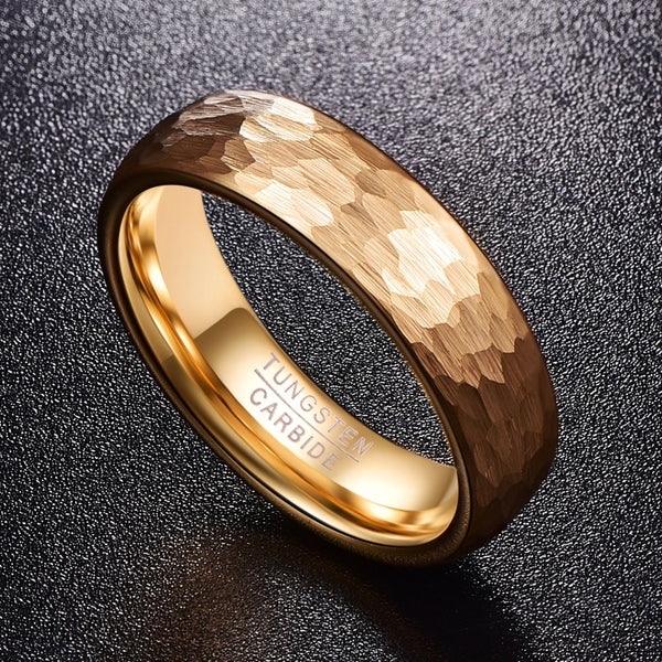 Tungsten Carbide Gold Color Wedding Band