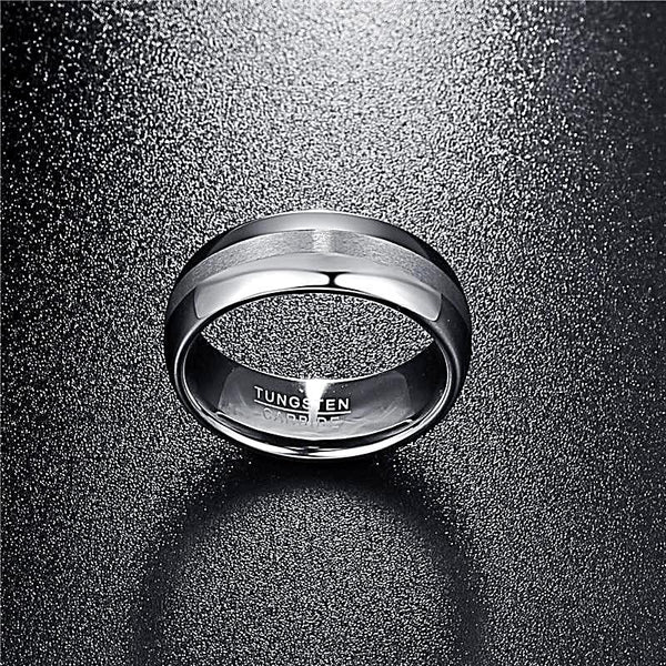 Tungsten Carbide Brushed Finish Band