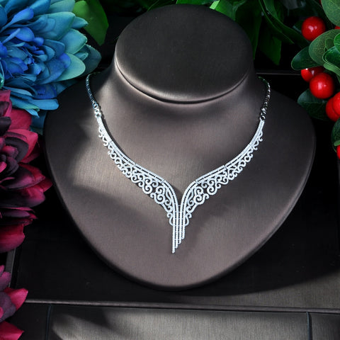 Dazzling Leaf Choker Necklace Jewelry Sets