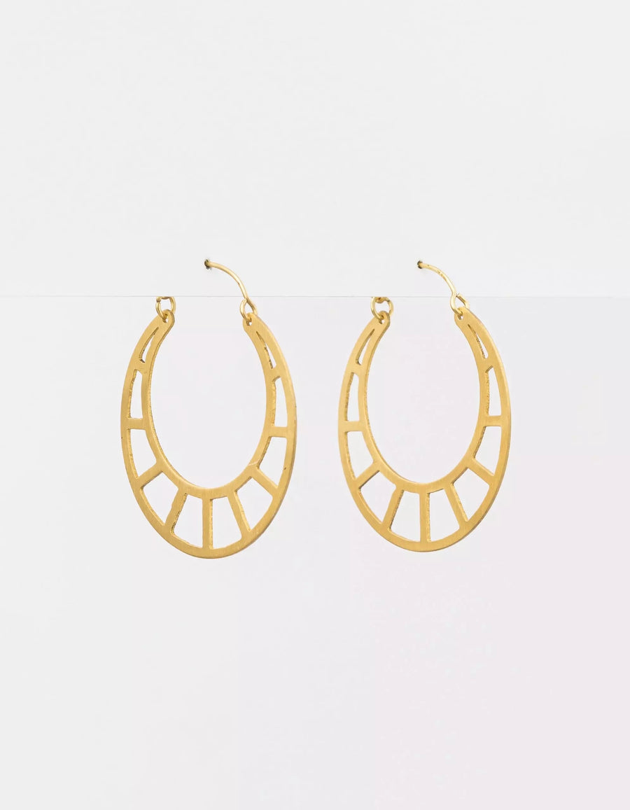 Gold Ladder Hoop Earrings